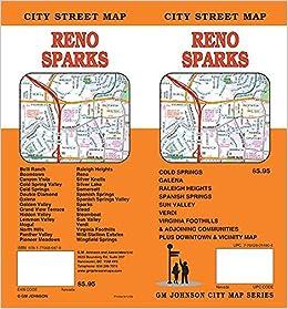 map of sparks nevada Reno Sparks Nevada Street Map Gm Johnson 9781770686878 map of sparks nevada