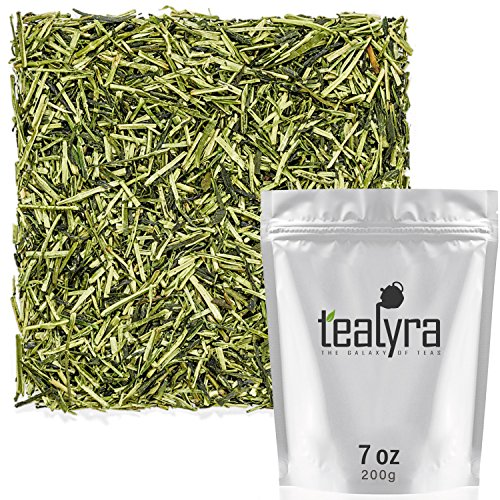 Tealyra - Premium Kukicha Twig Kabuse - Japanese Green tea - Organically Grown - Loose Leaf Tea - Mild Slightly Nutty Flavour - High Level of Antioxidants - Caffeine Level Low - 200g