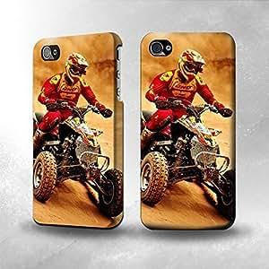 Apple iPhone 4 / 4S Case - The Best 3D Full Wrap iPhone Case - Atv Quad Racing Motocross