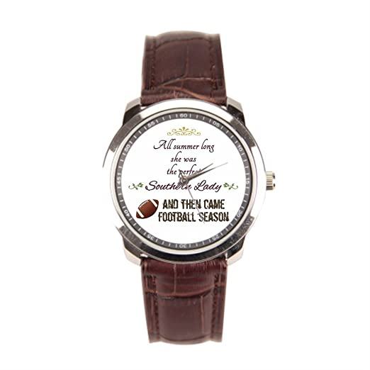 Para hombre de acero inoxidable relojes juegos de fútbol ventilador de fútbol inoxidable reloj: Amazon.es: Relojes