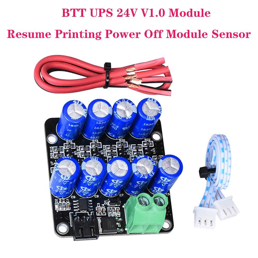 PoPrint BTT UPS 24 V V1.0 Módulo de presión continua, Power Off Módulo Sensor Mini UPS V2.0 12 V para SKR V1.3 MINi E3 SKR Pro impresora 3D (1 pieza)