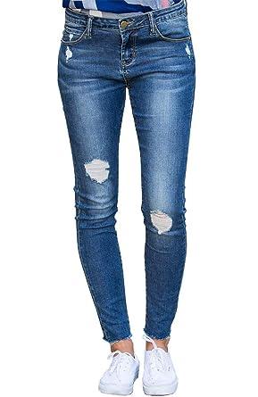 Lynwitkui Womens Ripped Jeans Boyfriend Skinny Distressed ...
