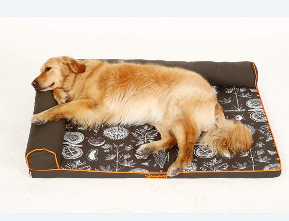 Coffee color 9068cmPet Dog Bed,Dogs & Cats Memory Foam Pet Bed,Four Seasons Universal Removable Easy to Wash Pet Bed,for Medium & Large Dogs & Cats
