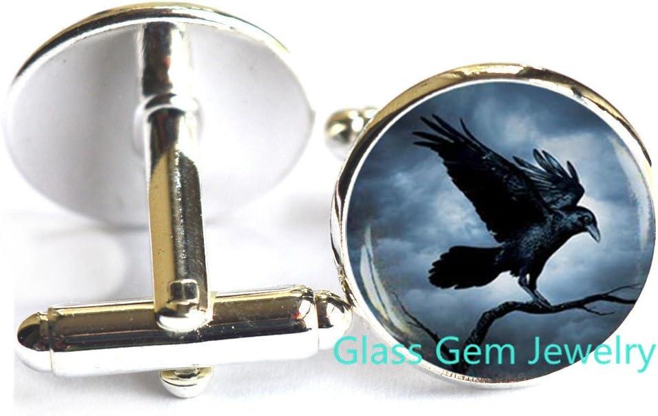 Gothic Raven Cuff links
