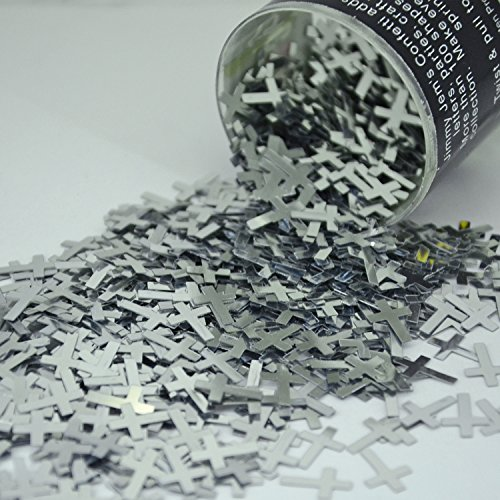 Confetti Cross in Silver - Retail Pack #8598 - Free Ship (Confetti Shapes)