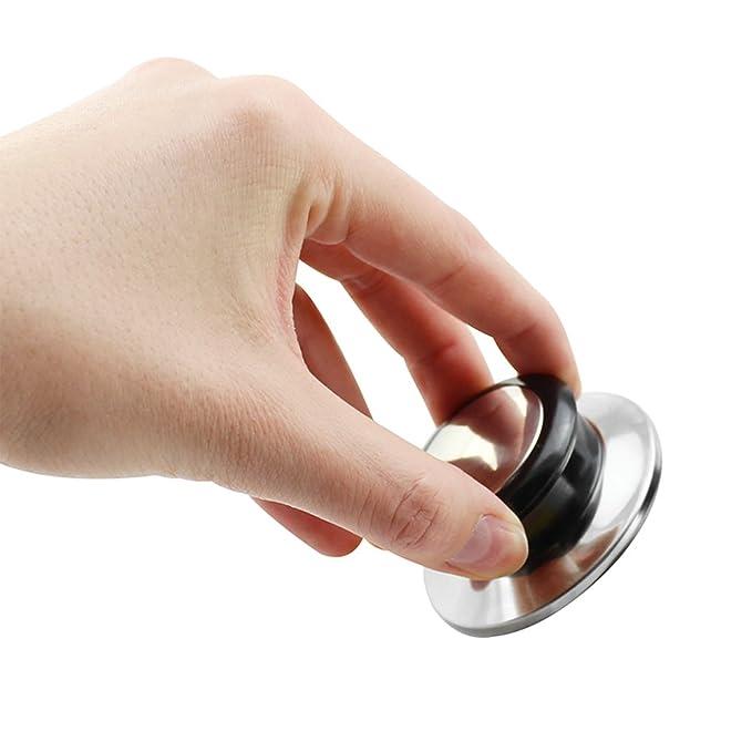 COM-FOUR® 4x manijas de reemplazo de la tapa de la olla, manijas de reemplazo para la tapa de la olla y sartén, asa roscada de 0,6 cm (4 piezas)