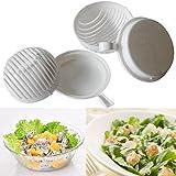 Salad Maker In Seconds, Oksale 60 Second Salad Cutter Bowl Salad Cutter Healthy Fresh Salads Made Easy Salad Cutter Bowl Vegetable Cutter Bowl