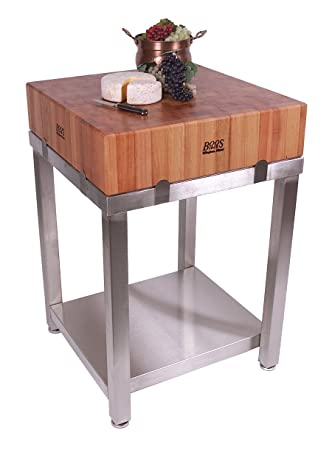 Amazon.com - Cucina Americana LaForza Kitchen Island Wood Top ...