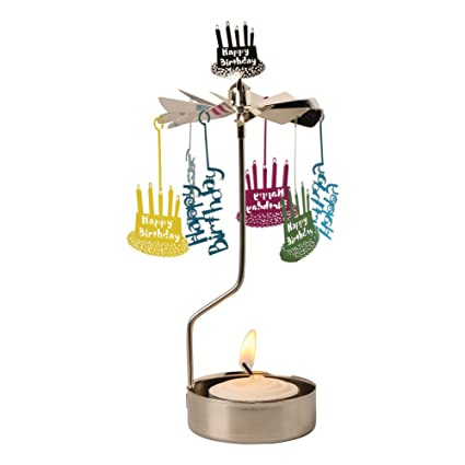 Amazon ART ARTIFACT Happy Birthday Spinning Tea Light Candle Holder Home Kitchen