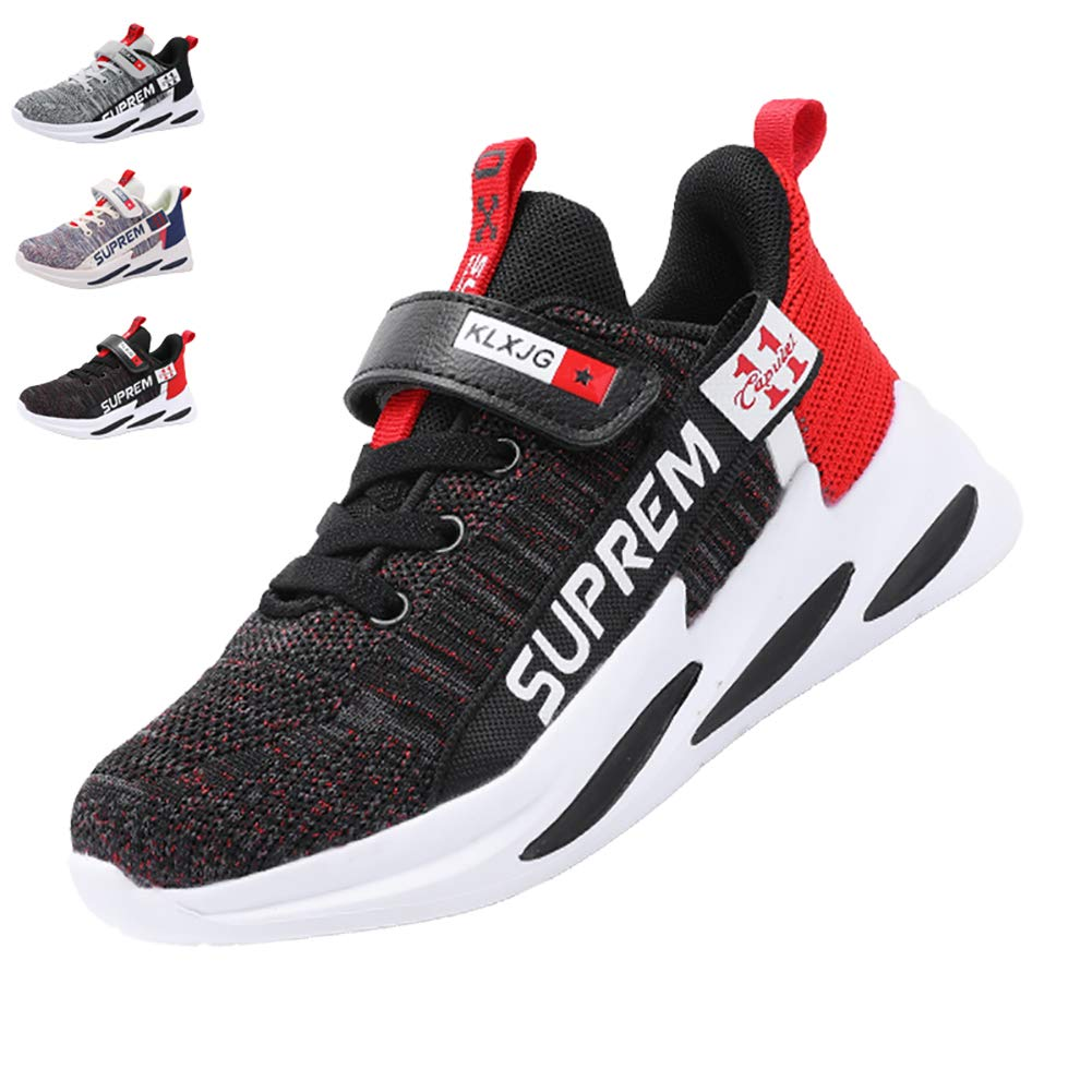 Caitin Kids Casual Walking Shoes Lightweight Leather Fashion Sneakers for Girls and Boys Little Kid//Big Kid