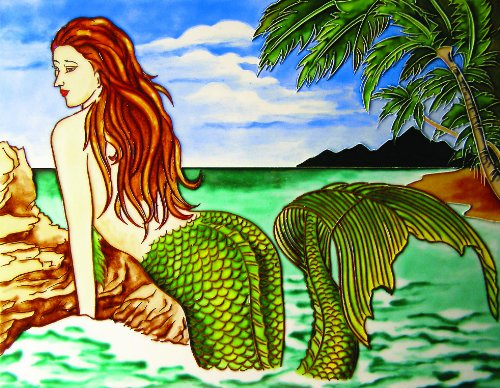 One Big Mermaid- Decorative Ceramic Art Tile – 11 x14 En Vogue