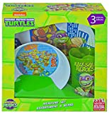 Teenage Mutant Ninja Turtles TMNT Half Shell Hero 3pc Dinnerware Window Box Set