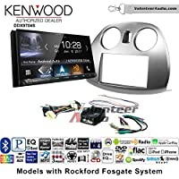 Volunteer Audio Kenwood DDX9704S Double Din Radio Install Kit with Apple Carplay Android Auto Fits 2006-2012 Mitsubishi Eclipse With Rockford Fosgate Systems