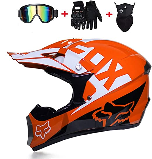 MRDEER Motocross Helmet Adult Off Road Helmet Kit D.O.T ...