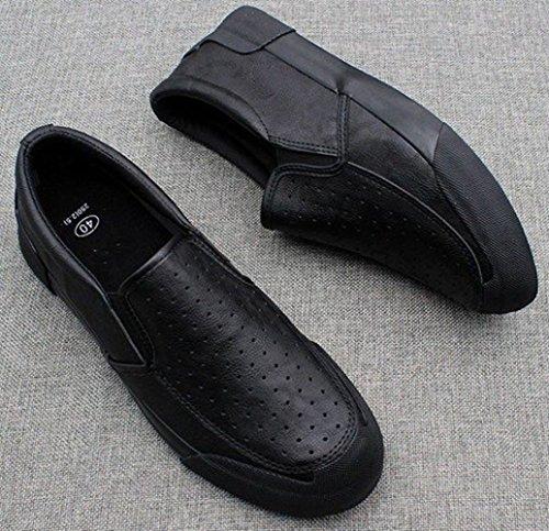 Morbido Uomo Black MYXUA Casual Da Scarpe Uomo Scarpe Business Fondo Comfort Sandali Da Basse qaqgwPxUt