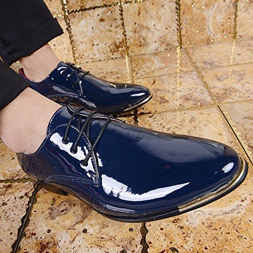 de Zapatos Liso 43 Clásicos de Hombres de de con PU Color Tamaño EU Cuero Oxfords Zapatos Forro Negocios Cordones bajo shoes la 2018 los Hombre Rojo Azul Zapatos Formales Fang de qwX60fx
