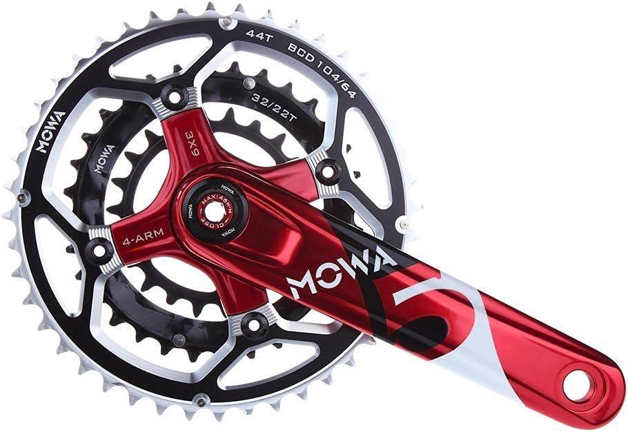MOWA Five Mountain MTB Bicycle Bike Triple Cycling Crankset 44//32//22t 170mm 175mm for 7 8 9 Speed XC Enduro AM use