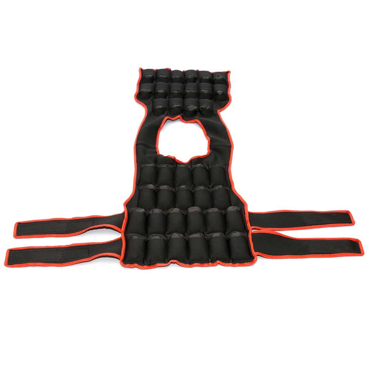 Chaleco lastrado ajustable para entrenamiento 20 kg, 30 kg, rojo, 30kg: Amazon.es: Deportes y aire libre