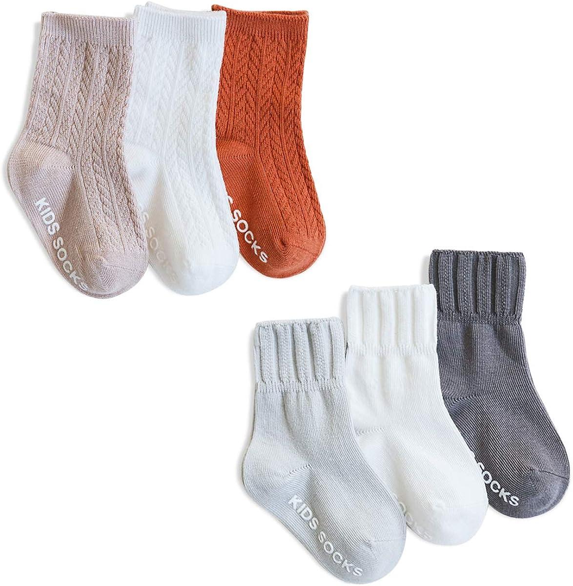 Einfarbig 0-6 Monate SONARIN 6 Paare Toddler M/ädchen Jungen Antirutsch Socken Baby M/ädchen rutschfeste Baumwollsocken