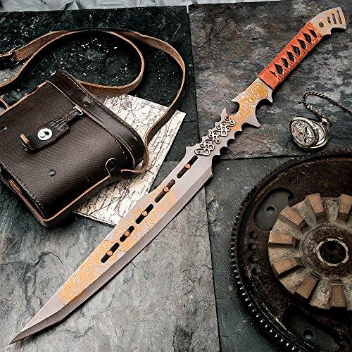 K EXCLUSIVE Clockwork Apparatica Steampunk Fantasy Sword with Nylon Sheath