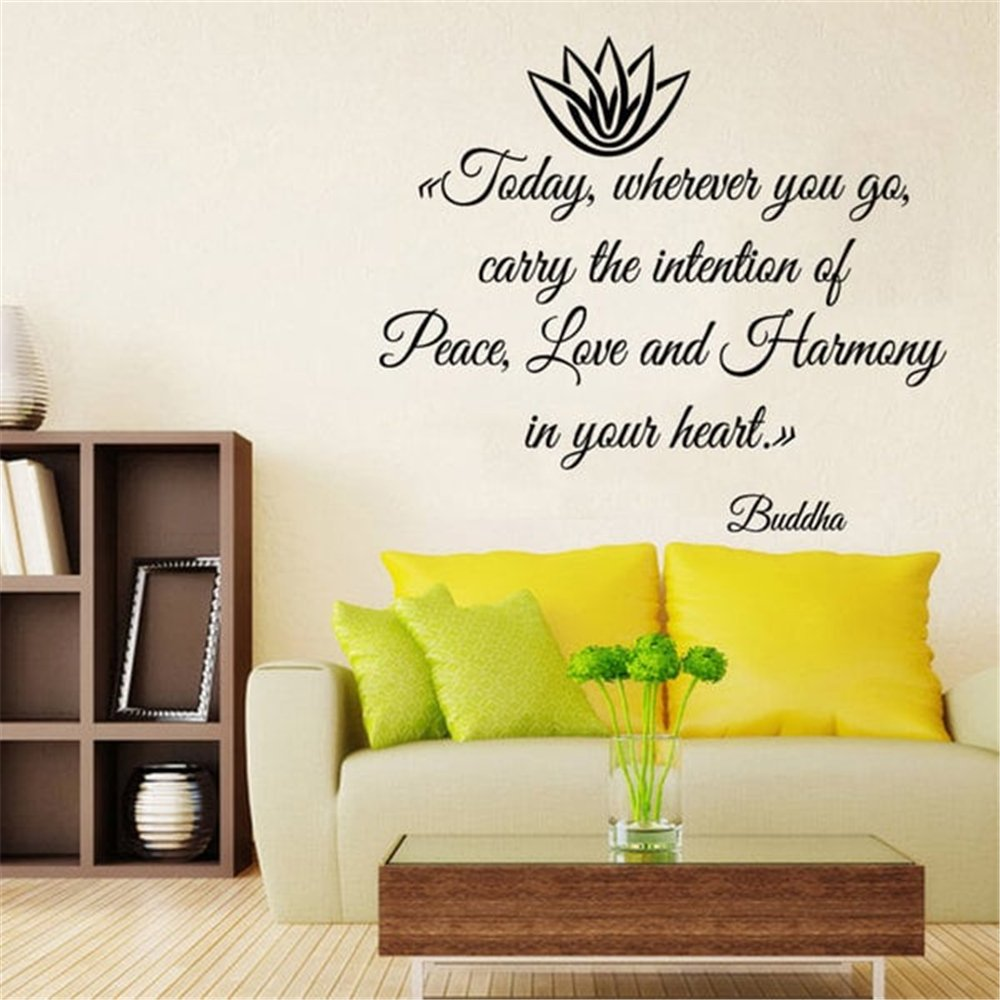 Amazon.com: Officy Wall Art Stickers Quotes and Sayings Today ...