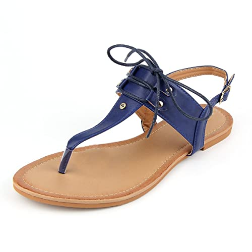 62e3f67f93c0 MuDan Women T-Strap Casual Wear Gladiator Slingback Flit Flops Sandal (7 B(