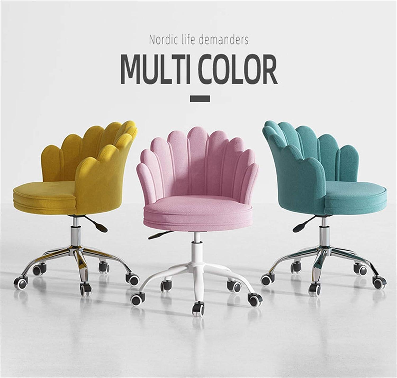LYJBD hemmakontorsstol, bekväm tjock kudde dyna flexibel, ergonomisk svängbar stol för verkställande, formning, spel eller kontor Grått