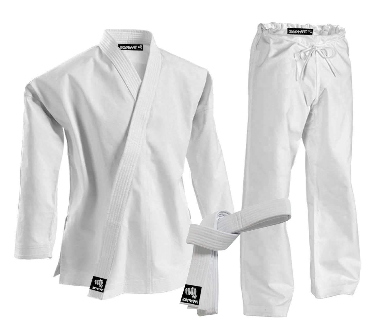 Zephyr 格闘技 K-Pro 14オンス Karate Gi 学生用ユニフォームベルト ホワイト B07GCBHZFW  4