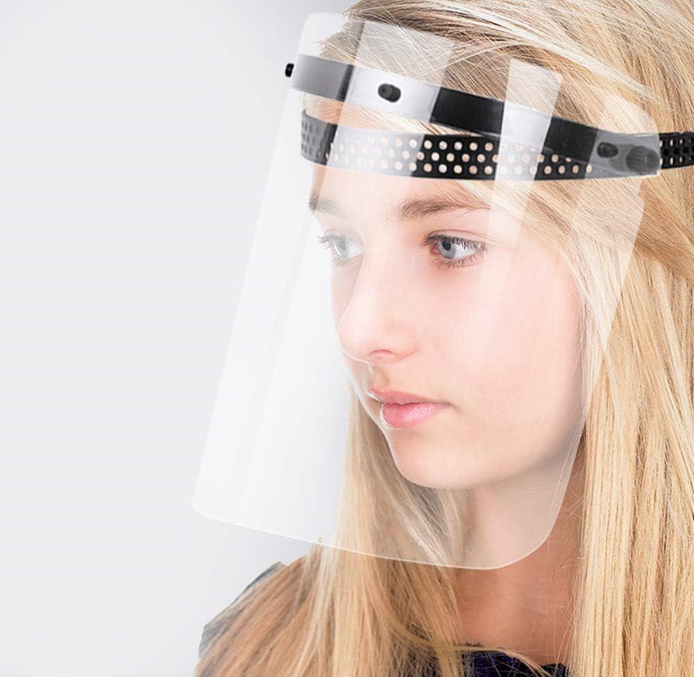 Protector facial completo de policarbonato, antivaho, transparente, ajustado