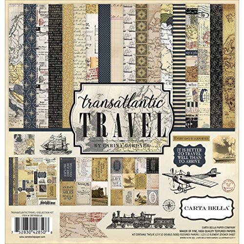 Carta Bella Paper Company Transatlantic Travel Collection Kit by Carta Bella Paper
