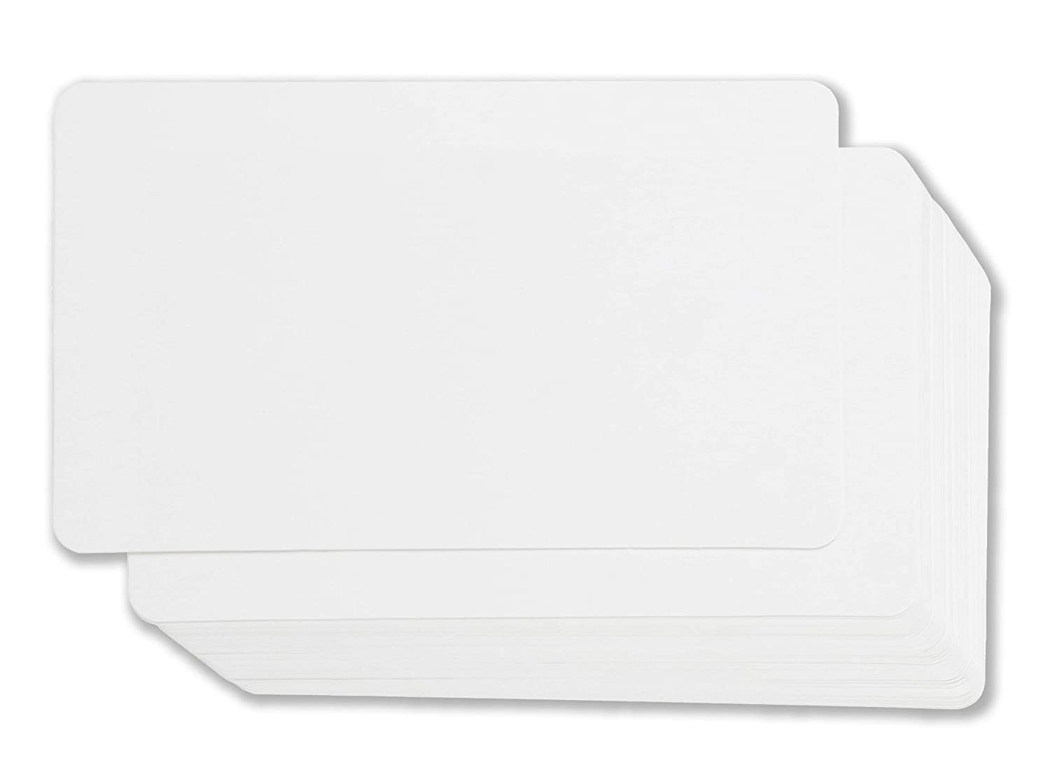 Blank Index Cards - 100-Count Rounded Blank Flash Cards, for Business Cards Message Cards, DIY Gift Cards, White, 3 x 5 inches Juvale