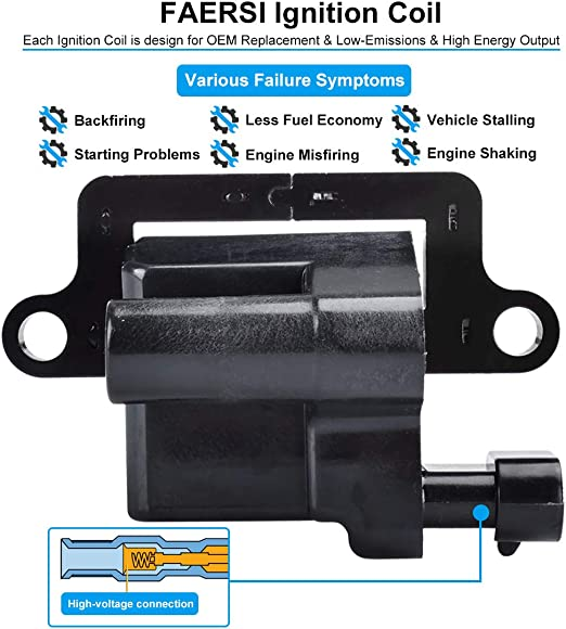 Online Automotive LRDEF35 7004-OLACU1108 Premium Ignition Coil Set