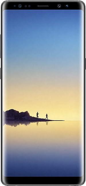 Samsung Galaxy Note 8 N950 Factory Unlocked Phone 64GB Midnight Black (Renewed)