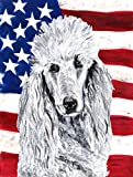 Caroline's Treasures SC9631GF White Standard Poodle with American USA Flag, Small, Multicolor For Sale