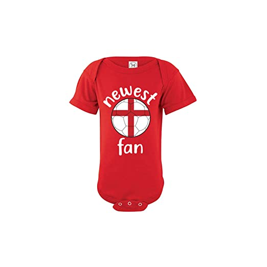 eef70b0f62d England Bodysuit Soccer Infant Baby Girls Boys Personalized Customized Name  and Number (Bodysuit 24M)