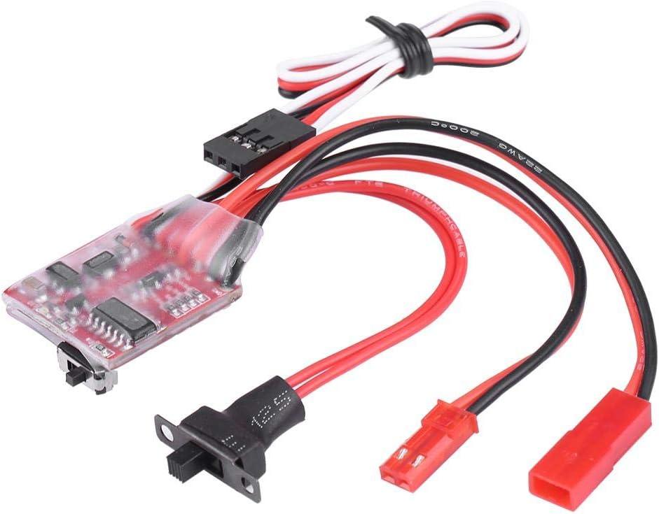 V GEBY RC Winch Switch Controller, Modelo de Accesorio del vehículo 30A Cepillado ESC Winch Switch Controller para 1/10 Escala RC Crawler Car