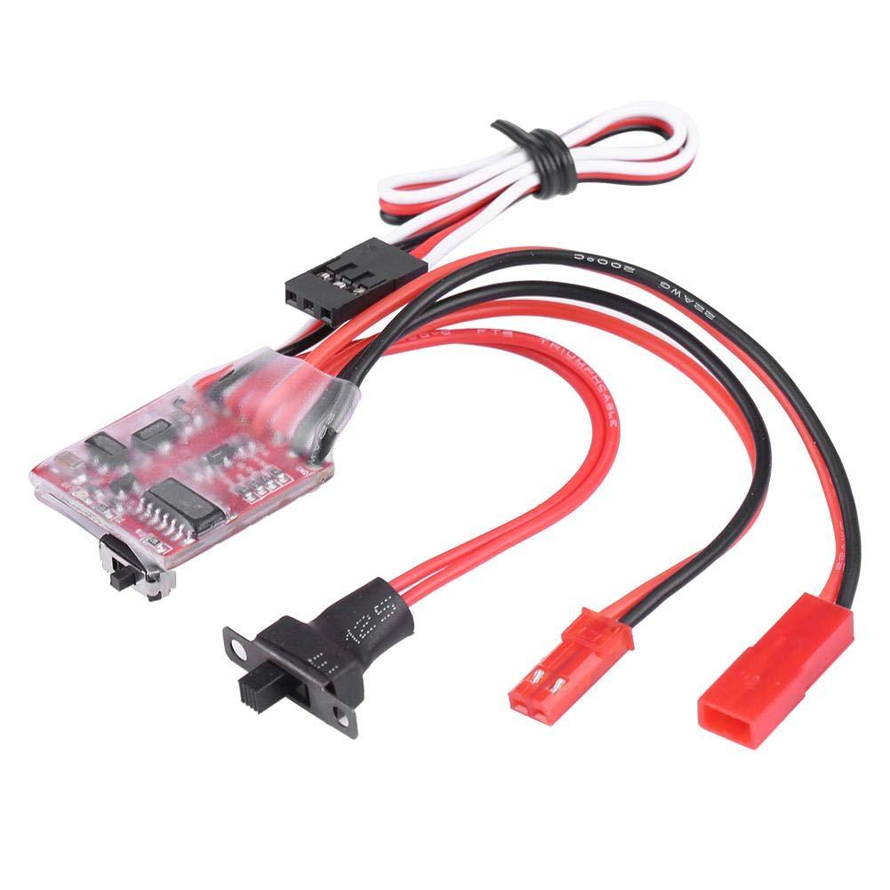 Dilwe RC ESC Regolatore di velocit/à Elettrico per Auto RC Modello Accessorio Veicolo 30A ESC Spazzolato per 1//10 RC