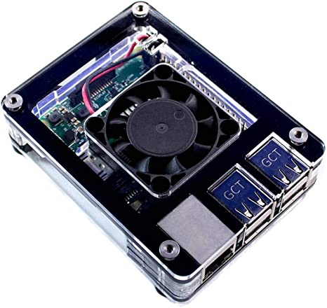 Raspberry Pi 3 A Zebra Fan Case ~ Black Ice