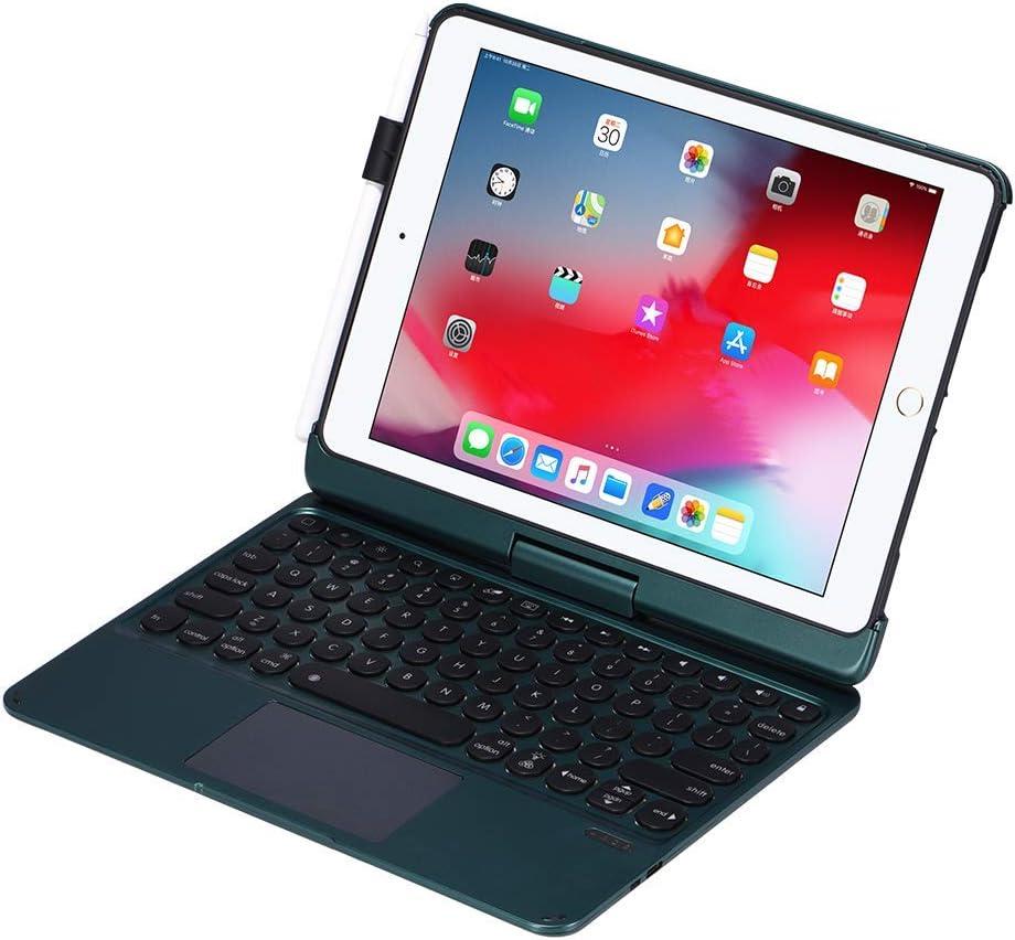 iPad Keyboard Case for iPad 2018 (6th Gen) - iPad 2017 (5th Gen) - iPad Pro 9.7 - iPad Air 2 & 1 - Thin & Light - 360 Rotatable - Backlit 7 Color - iPad Case with Keyboard (9.7, Forest)