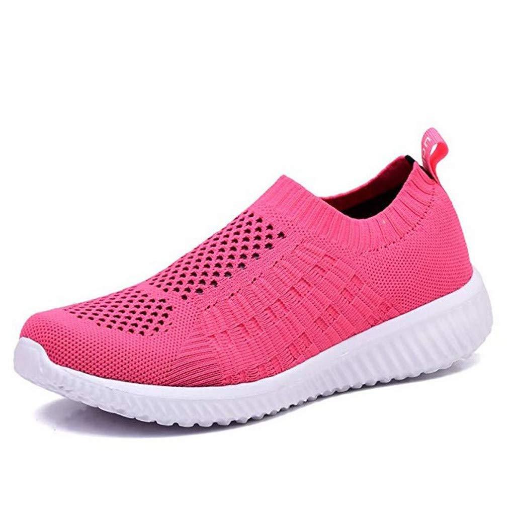 Luckhome Laufschuhe Damen Socken Damen Hausschuhe Damen Yoga Damen Sneaker Schuhe Frauen-Normallack-athletische gehende Schuh-beiläufige Ineinander greifen-Bequeme Arbeits-Turnschuhe