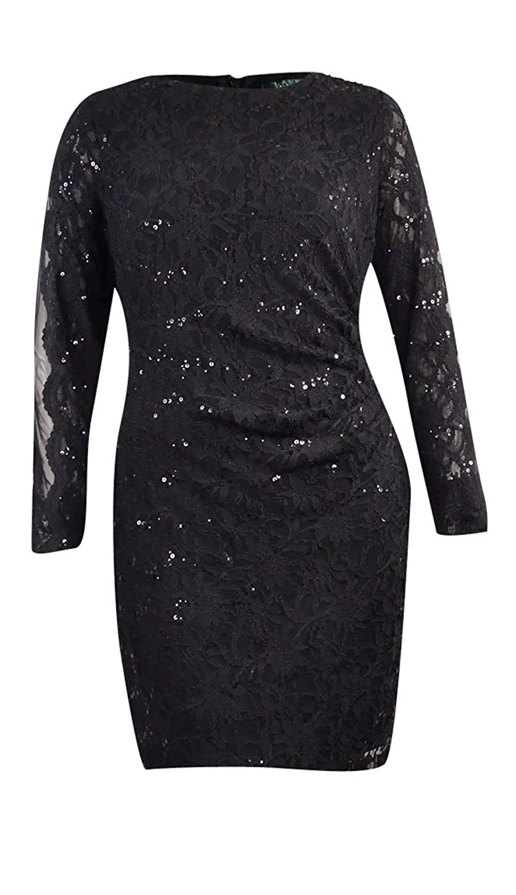 d89bfd2685b Lauren Ralph Lauren Women s Sequined Lace Dress (2
