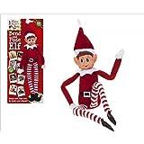 30 centimetri piegare e posare la ragazza di Elf - con facce Vinyl & Grip insieme le mani - più grandi gli elfi più mischia - elfi che si comportano male