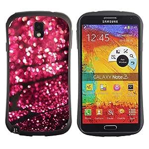 Paccase / Suave TPU GEL Caso Carcasa de Protección Funda para - Rain Street Blurry Lights Purple - Samsung Note 3 N9000 N9002 N9005