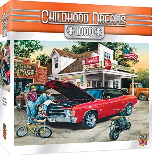 MasterPieces Childhood Dreams Getting Dirty Muscle Car Jigsaw Puzzle by Dan Hatala, 1000-Piece