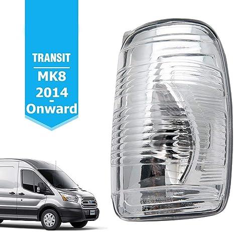 Ford Transit MK8 Lente Indicador De Espejo De Ala Puerta Derecho claro O//S 2014 2019