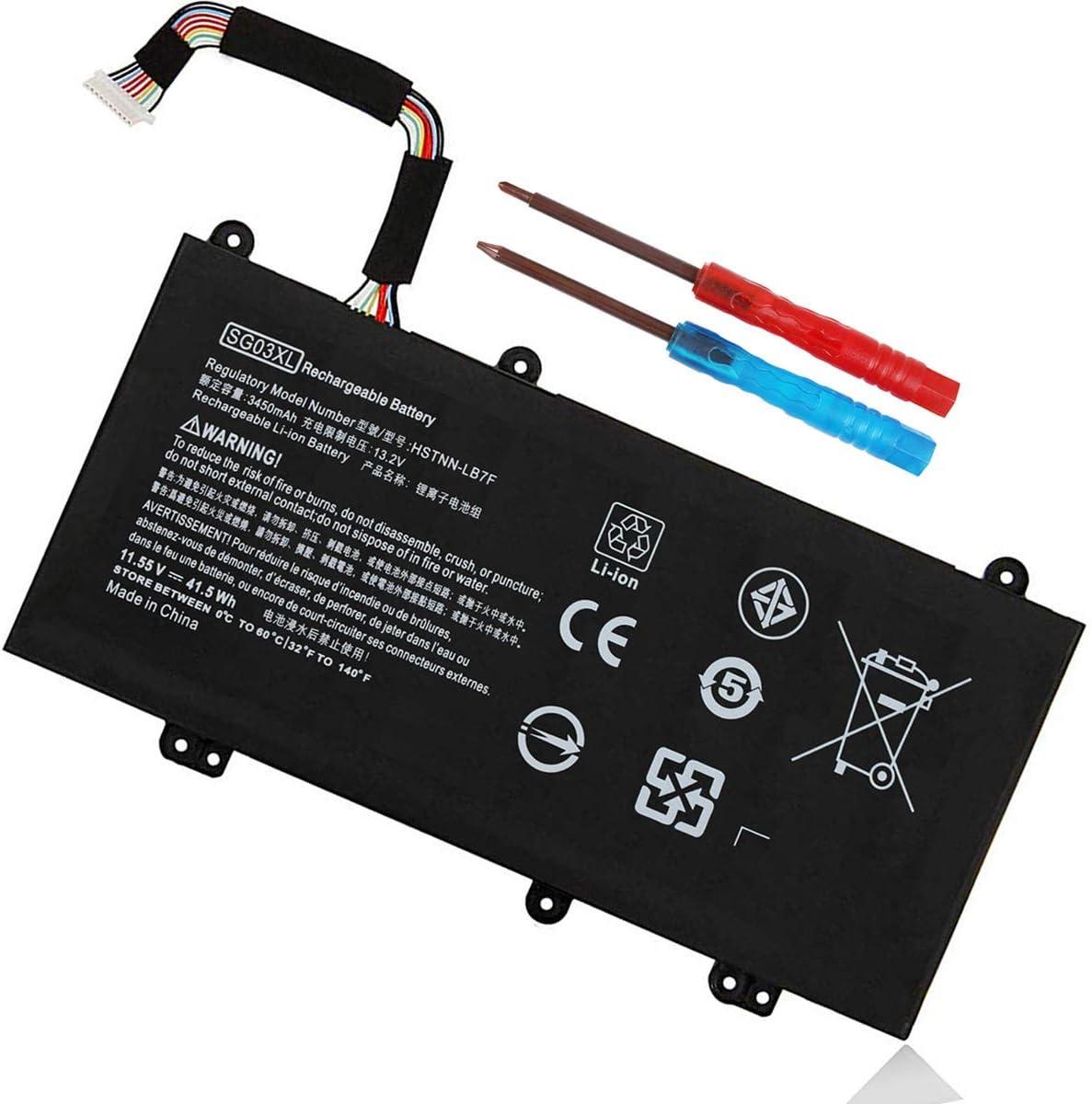 SG03XL 849048-421 Battery for HP Envy M7-U109DX M7-U009DX 17t-U000 17-U011NR 17-U110NR 17-U163CL 17-U177CL 849314-850 849315-850 849314-856 HSTNN-LB7F HSTNN-LB7E TPN-I126 W2K88UA W2K86UA 11.55V 41.5Wh