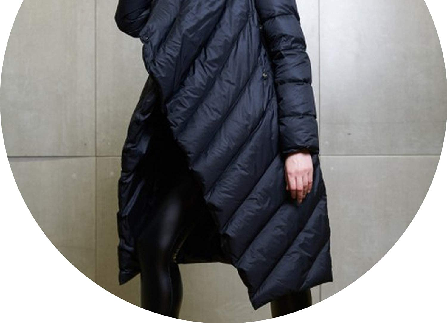 Black Winter Women Hooded Long Down Coat Female Winter Warm Thick Down Jacket