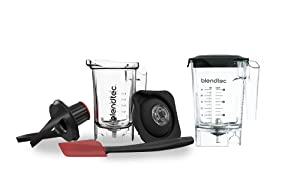 Blendtec 40-610-01 Countertop Blender Jars, Mini WildSide+ (46 oz) and Twister (37 oz), Clear