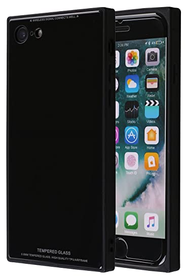 Strict Cloth Grid Phone Cover For Iphone 7 8plus 6s Metal Bumper Tempered Glass Back Cover Tpu Phone Case For Iphone X 6 6s 7 8plus Cellphones & Telecommunications Half-wrapped Case