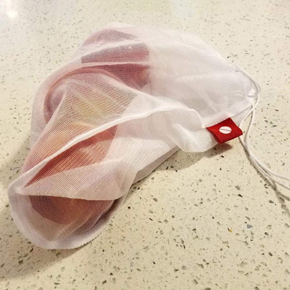 Chengstore 5pcs 10PCS Maglia Riutilizzabile Produce Borse Lavabili Eco Friendly Borse per Lo Shopping della Spesa di Stoccaggio di Frutta Verdura Giocattoli